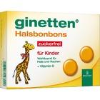 Ginetten Kinder Halsbonbon - сосательные леденцы-таблетки без сахара при боли и Воспалительных процессы в полости рта и глотки 24 табл (Германия)