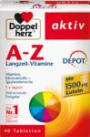 Витаминно-минеральный комплекс Doppelherz A-Z Depot Tabletten, 40 таблеток - эффективный комплекс с 23 витаминами, минеральными веществами и микроэлементами (Германия)