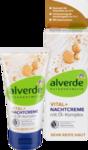 alverde NATURKOSMETIK Nachtcreme Vital+ mit Olkomplex, 50 ml - Ночной крем с ценной формулой с натуральным лецитином и гиалуроновой кислотой (55+). 50мл. (Германия)