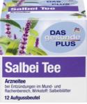 DAS gesunde PLUS Salbei Tee, 12 x 1,5 гр,18 g -  Натуральный травяной чай чай шалфей для применение при диспепсических расстройств с легких спазмах желудочно-кишечного тракта, при вздутии и метеоризме, а также при повышенной секреции пота. (Германия) 12 пакетиков