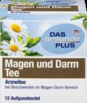 """DAS gesunde PLUS Magen und Darm Tee, 12шт x 1,75 гр=21 g -  Натуральный травяной растительный медицинский чай """"желудок и кишечник"""" с активными веществами цветков ромашки, листья мяты перечной и кореня солодки для фитотерапии желудочно-кишечных жалоб.(Германия) 12 пакетиков"""