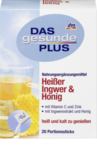 Витаминный напиток Имбирь + Мед 20 пакетиков - Das gesunde Plus Heißgetrank Heißer Ingwer & Honig, Portionssticks, 20 шт. (Германия)