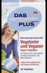 Необходимый комплекс минералов и витаминов для вегитарианцев - Das gesunde Plus Vegetarier und Veganer Depot Tabletten, 30 шт. (Германия)