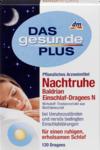 Средство при беспокойстве, состоянии бессонницы и нервных срывов на основе фитотерапии - Das gesunde Plus  Nachtruhe Baldrian Einschlaf Dragees N, 120 шт (Германия)