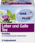 DAS gesunde PLUS Leber und Galle Tee, 12 x 1,75 гр,21 g -  Натуральный травяной растительный медицинский чай для печени и желчного из одуванчика, биологической куркума, плоды расторопши, листья мяты перечной и тмином.(Германия) 12 пакетиков