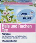 """DAS gesunde PLUS Hals und Rachen Tee, 12шт x 1,75 гр=21 g -  Натуральный травяной растительный медицинский чай """"шея и горло"""" с активными веществами цветков при воспалении верхних дыхательных путей. (Германия) 12 пакетиков"""