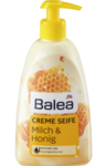 Balea Creme Seife Milch & Honig - жидкое крем-мыло с дозатором молоко и мёд (Германия) 500 мл.