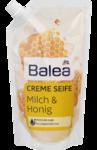 "Запаска Жидкое мыло Balea Creme Seife Milch & Honig Nachfullpackung - запаска жидкое мыло ""Молоко и мед"" 500 ml (Германия)"