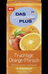 Das gesunde Plus - Fruchtige Orange-Pfirsich Früchtetee, 25 x 2 g, 50 g - Ароматизированный растительный чай cо вкусом апельсина-персика. (Германия) 25 пакетиков.