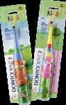 DONTODENT Batterie-Zahnburste Kids, 1 St -  Детская зубная щетка на батарейках, обеспечивает легкое и тщательное очищение зубов. (Германия)