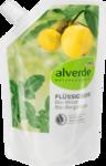 alverde NATURKOSMETIK  Flussigseife Minze Bergamotte, 300 ml - запаска жидкое Натуральное крем-мыло био Мята и био- Бергамот. 300мл (Германия)