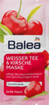 Balea Weißer Tee & Kirsche Maske, 16 ml, 2 x 8 мл - увлажняющая и успокаювающая маска для лица c белым чаем и вишней 2*8мл (Германия)