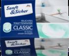 Sanft&Sicher  Feuchtes Toilettenpapier Sensitive Sachets 15шт.- туалетная влажные бумага для чувствительной кожи (Германия)