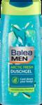 Balea MEN  Duschgel arctic fresh, 300 ml - Гель для душа c охлаждающим ментолом 3in 1: Для тела, лица, волос. (Германия) 300 мл.