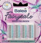 Balea Fairytale Ersatzklingen 3-Klingen Rasierer - запаски к женскому станку для депиляции системы Fairytale, 4 запаски 3-х лезвинные(Германия)