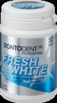 Dontodent Zahnpflege-Kaugummi Fresh White - жевательные подушечки без сахара для защиты зубов (Германия) 48шт.