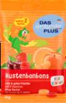 Dm DAS gesunde PLUS  Hustenbonbons fur Kinder rote & gelbe Fruchte, 75 g - леденцы от кашля для детей с красными и желтыми фруктами. 75 гр. Без сахара! (Германия)