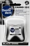 Dontodent Black Shine Zahnseide, 50м - Зубная нить c активированным углем. (Германия) 50м.