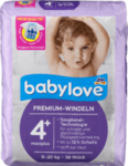 Babylove babylove  Windeln Premium Große 4+, maxiplus 9-20kg 38 штук -  немецкие Премиум подгузники (Германия)