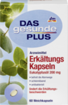 Капсулы с эвкалиптовым маслом, при заболевании дыхательных путей - Das gesunde Plus Erkaltungs Kapseln Eukalyptusol 200мг., 60шт. (Германия)