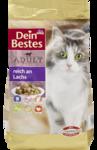 Dein Bestes Adult Katzentrockenfutter reich an Lachs, 750 g - сухой корм, богат лососем, для взрослых котов 750гр. (Германия)