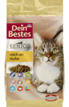 Dein Bestes Senior Katzentrockenfutter reich an Huhn, 750 g - корм для взрослых кошек,  сухой, богат курицы 750гр. (Германия)