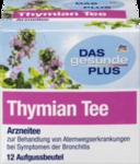 DAS gesunde PLUS Thymian Tee, 12шт x 1,75 гр=21гр -  Натуральный травяной растительный лекарственный чай для лечения респираторных заболеваний с симптомами бронхита и катара верхних дыхательных путей. (Германия) 12 пакетиков