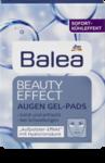 Balea Beauty Effect Augen Gel-Pads накладки для кожи лица вокруг глаз на основе гиалуроновой кислоты (30+) 6штук (Германия)