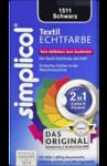 2 в 1 !!!  Краска Simplicol Textil Echtfarbe Schwarz, 150 ml для восстановления цвета вещей + закрепитель черная 150мл. для объема от 600г до 1800г ткани (Германия)