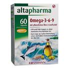 Витаминный комплекс Altapharma Omega-3-6-9 Kapseln - Омега 3-6-9 в капсулах, 60 шт. (Германия)