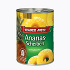TRADER JOE'S Ananas-Scheiben - ананас консервированный в кружках 580мл. (Германия)