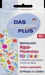 Das gesunde Plus Aqua-Pflasterstrips fur Kinder, 20 St -  пластырь для ран которые не должны намокнуть для детей, 20 штук в 3 размерах. Без латекса.(Германия)