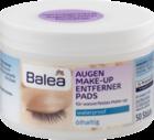 Balea Augen Make-up Entfernerpads olhaltig  BaleaСалфетки  для снятия водостойкого макияжа 50шт (Германия)