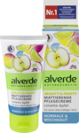 Alverde Beauty & Fruity mattierende Pflegecreme Limette Apfel, 50 ml - крем Alverde с экстрактом лайма органического, органических яблок воды и масло ши, матирует кожу и предотвращает ранний блеск кожи. (Германия)