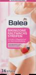 Balea  Kaltwachsstreifen Bikinizone, 16 St - Холодные восковые полоски для зоны бикини, с алое вера и миндальным маслом 16 штук (Германия)