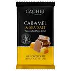 ОЧЕНЬ ВКУСНОЕ СОЧЕТАНИЕ!!! Премиум шоколад Cachet 32% Milk Chocolate Bar with Caramel & Sea Salt - с морской солью и карамелью, 300гр. Бельгия ОРИГИНАЛ 100%!!!