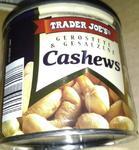 Trader Joes Cashews - кешью в жестяной банке 200гр. (Германия)