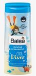 """Balea Kids Dusche & Shampoo Cool Diver, 300 ml - Гель-душ + шампунь без слез для детей """"Крутой дайвер"""" (Германия) 300мл."""