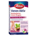Abtei Venen Aktiv Dragees, 60 шт - Витамины для улучшения кровообращения и повышения эластичности вен с конским каштаном (Германия)