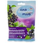 Dm Das gesunde plus Halsbonbons Holunderblute - Johannisbeere, 75 g - леденцы для горла с витамином С (без сахара), с  фруктовым ароматом бузины черной смородины. (Германия)