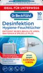 Dr. Beckmann Hygiene Desinfektionstucher, 10 St - салфетки дезинфекция и гигиена при поездках. Эффективен против короновируса! (Германия) 10шт.