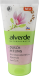 Alverde Duschpeeling Bio-Magnolienblute Sheanuss, 150 ml - Душ-пилинг с ароматом цветков магнолии  (Германия)