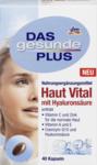 Витаминный комплекс для поддержания нормальной кожи с Гиалуроновой кислотой + (Витамин С +Цинк) + Витамин А +Е + Коензим Q10 - Das gesunde Plus Haut Vital mit Hyaluronsaure, 40 шт. (Германия)