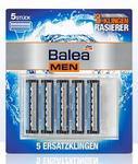 Balea men Ersatzklingen - 5 штук сменных 3-х лезвийных запасок для станка 3-х лезв. системы Balea Men(Германия)