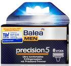 Сменные 5-ти лезвиные запаски кассеты для станка Balea Ersatzklingen precision5 Ersatzklingen 8шт. (Германия)