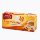WESTMINSTER Ingwer Orange TEA, натуральный чай имбирь-апельсин в пакетиках, 25 пакетиков(Германия)