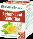 Чай Bad Heilbrunner Leber- und Gallen Tee, 8 x 1,75гр -  лечебный чай при жалобах печени и желчи (Германия) 8 пакетиков
