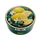 Леденцы в жестяной коробке Sky Candy Zitronen Bonbons (лимон) 200 гр., (Германия)