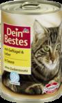 Dein Bestes mit Geflugel & Leber in Sauce, fur Katzen, 400 g - с птицей и печенью в соусе, для кошек, (Германия) 400гр.