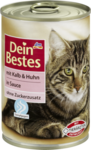 Dein Bestes mit Kalb & Huhn in Sauce, fur Katzen, 400 g - с телятиной и курицей в соусе, для кошек, (Германия) 400гр.